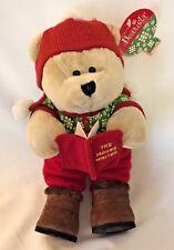 "Starbucks Bearista Bear Christmas beanbag plush 10"" w/Tag The Mouse Writer"