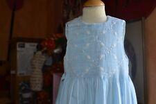 robe tartine et chocolat bleu 2 ans bleu clair haut double petites fleurs haut