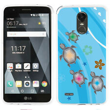 Slim TPU Gel Phone Case for LG Stylo 3 / Stylo 3 PLUS - Happy Turtle