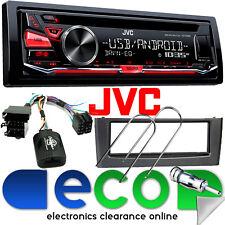 Fiat Grande Punto & KD-R482 JVC CD MP3 RDS SINTONIZZATORE USB AUX & SWC Grigio Stereo Auto