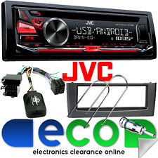 Fiat Grande Punto & KD-R482 JVC CD MP3 RDS Tuner USB Aux & SWC Car Stereo GREY