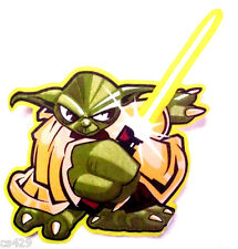 """11""""  STAR WARS YODA CHARACTER WALL SAFE FABRIC DECAL CUT OUT"""