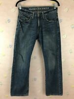 Men's AMERICAN EAGLE Original Straight Zipfly Blue Jeans Size 28x28