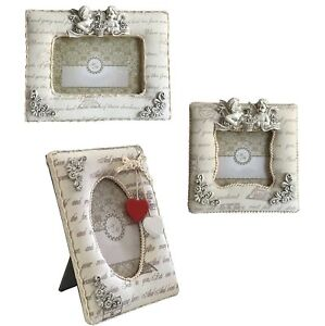Angel - Padded Fabric Sculpture Shabby Chic Picture Frame - Your Choice of Sizes