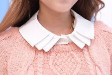 Women Girls Fake False Collar Detachable Lapel Shirt Peter Pan Choker Necklace