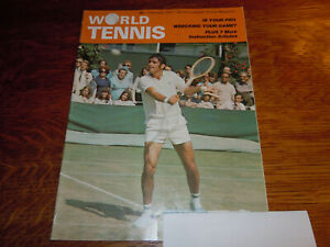 "VINTAGE FEBRUARY 1971 "" WORLD  TENNIS "" MAGAZINE"