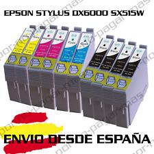 10 CARTUCHOS DE TINTA COMPATIBLE NON OEM EPSON STYLUS DX6000 SX515W T0711/2/3/4