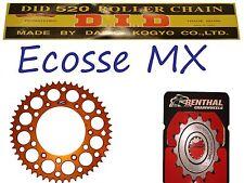KTM SXF250 XCF250 EXCF250 DID Gold G/B Chain Orange Renthal Sprocket Kit