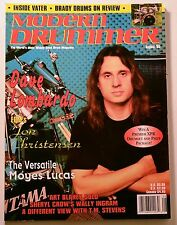 Modern Drummer Magazine August 1995 Dave Lombardo Jon Christensen Moyes Lucas