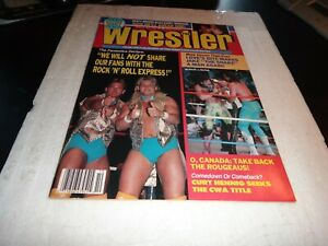the wrestler victory sports magazine october 1988 the rougeaus dusty rhodes wwe
