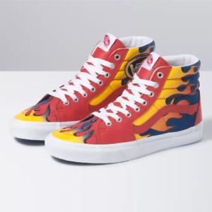 Vans Racer SK8 Hi Red & True Blue Skateboarding Shoes Size 9.5