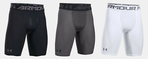 "Under Armour Men's UA HeatGear Armour Long Compression Shorts Workout 9"" Length"