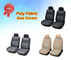 2 Front Car Seat Covers Cloth Fabric for Toyota #3160