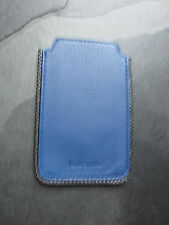 Paul Smith PS Blue Leather with Grey edging  iPhone Case Brand New