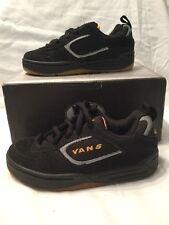 Genuine Kids Maverick Vans Black Suede Childrens Shoes Skate UK Size 13 BNIB