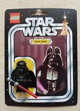 Lego  Star Wars Darth Vader custom card kenner vintage style