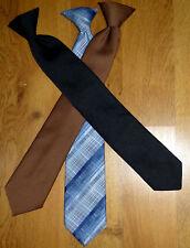Men's Necktie Lot of 3 Clip-on Polyester Wash n Wear Vtg Jcpenney Woodmere
