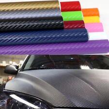 Pellicola In Carbonio 3d Adesiva 30x127Cm Wrapping Auto Moto Vari Colori Vinyl