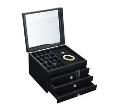 CLEARANCE! NEW QUALITY LARGE WOODEN JEWELLERY GIFTS BOX GLOSSY BLACK 201 BLK 3k