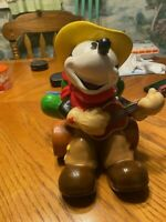 Disney Mickey Mouse Cowboy COOKIE JAR w/Guitar* Disney *