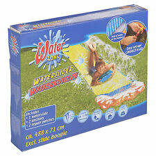 4.8m Fun Kids Inflatable Outdoor Garden Water Slide Sprinklers Splash Play Mat