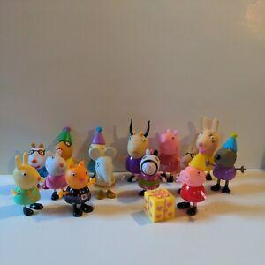 Peppa Pig and Friends 14 Figure Lot figurines birthday Jazwares Mattel