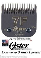 Oster A5 ELITE TITANIUM CryogenX Clipper Blade 7F 7FC*LASTS 3X LONGER*Fit Andis