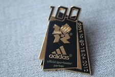 Adidas London Olympic 2012 Pin Badge Enamel Limited Edition Rare 100 Days