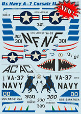 Print Scale 48-127 Decal for Airplane US Navy A-7 Corsair II, Part 2 1/48 scale