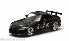 GREENLIGHT JOHNNY'S 2000 HONDA S2000 FAST & FURIOUS BLACK 1:43 NEW IN BOX 86205