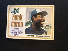 1974 Topps Hank Aaron #1 G/VG  Atlanta Braves *25