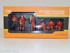 1/18 TSM TEAM JAGERMEISTER PIT CREW FIGURINES TSM11AC01 MODIFIED GARAGE DIORAMA