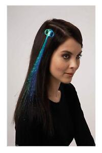 Ganz Halloween Christmas Fiberoptic Light Up Hair Extension Clip Red/Blue