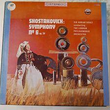 Lp de vinilo disco Shostakovich Symphony 6 Adrian Boult