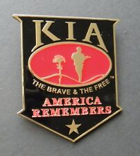 KIA KILLED ACTION SOME GAVE ALL CAR GRILL MEDALLION 3.25 INCHES
