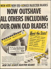 1951 Vintage ad for Schick Injector Blades retro shaving  (111517)