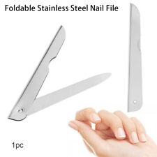 Foldable Stainless Steel Nail Care Manicure Tool  Pedicure Grinding Nail File