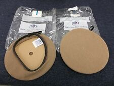 2 US MILITARY DSCP GARRISON COLLECTION WOOL BERET HAT CAP SZ 6 5/8 TAN BROWN NEW
