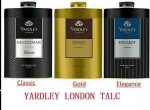 YARDLEY LONDON Talcum Talc Powder for Men,Gentleman Classic, Elegance, Gold