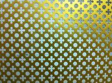 Lamiera Lastra Forata Alluminio Anod.Oro Fant. 8 cm 50x100 sp.0,5mm Termosifoni