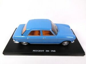 PEUGEOT 204 bleue - 1/24 Salvat Voiture miniature Diecast car U49