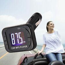 Wireless MP3 Player Auto FM Transmitter Modulator LCD Car Kit USB Charger SD MMC