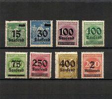 GERMANIA Reich 1923, 8v sovrastampati, nuovi, alcuni senza gomma (pha029)