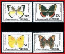 DOMINICA = BUTTERFLIES set#1 MNH