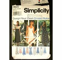 Simplicity 9600 Design Your Own Dress Misses Plus Size U 16 18 20 Uncut 1996