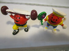 2 vint. General Foods KOOL AID advertising figures Weightlifter & Tennis Player