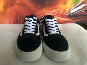 Vans Old Skool Black/White Suede Skateboarding Shoes Size M 9.5 W 11