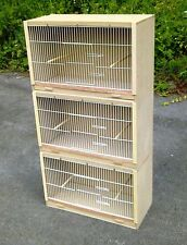 "3 x Single Budgie Breeding Cage Cages  25"" x 15"" MULTIBUY OFFER!!"