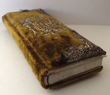 Antique Photo Album Green Velvet With Ornate Silver-Tone Accents 43 Photos