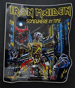 Fan-Aufkleber Iron Maiden Somewhere in Time Studioalbum LP 1986 UK Heavy Metal